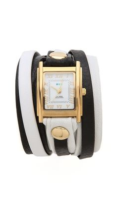 La Mer Collections Square Case Wrap Watch