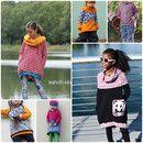 """Die """"himmlische Vani"""" ist ein Raglan-(Vokuhila)-Pullover in 3 verschiedenen Längen (Shirt, Tunika, Kleid), mit Kapuze, Kragen, Rundhals- oder U-boot-Ausschnitt. Es stehen seitliche Eingrifftaschen..."""