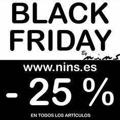 Esta tarde a partir de las 17.00 empieza el Black Friday!! 25% de descuento en todos los artículos hasta el sábado 25. En la tienda física y online. #nins #ootd #ootdkids #gorgeous #instagram #working#work #nonstop #ilovemywork  #ninsmanresa#pictureoftheday #bestoftheday #blackfriday #christmas #christmastime #thebesttimeoftheyear #black #modainfantil #moda#instadaily #instalike#instagood #discount #presents