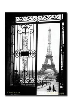 Sally Gall Views Of Paris, Gallery Wrapped Canvas Art