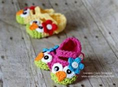 Crochet Owl Mary Jane Slippers Are The Cutest