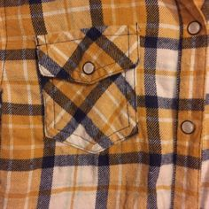 Mossimo  Snap Button Western Shirt Giddy up, cowgirls! Navy & mustard western style shirt is perfect for the pumpkin patch in the fall or pairing with your favorite pair of cutoff jean shorts in the summer! Pearlized snap buttons add a pretty, feminine touch. Mossimo Supply Co Tops Button Down Shirts