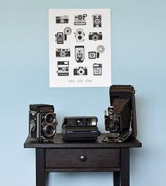 Click Click Camera Print - A handmade letter pressed poster to expand your camera collection. $35