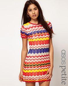 $71 ASOS PETITE Exclusive Mini Dress With Chevron Print