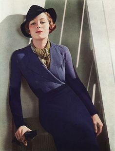 Sans the hat, I would love to wear a retro 30s outfit.. hmm... thrift stores?