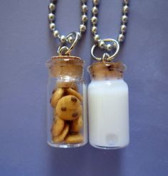 Milk and Cookie Best Friends Necklace by thegreatvorelli on Etsy, $18.50