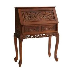 Home Decorators Collection Cherry Drop-Front Desk-HO2422T at The Home Depot