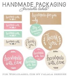 Handmade Packaging Labels