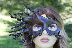 leather spiral bark mask by TBTOBEDESIGNED1 on Etsy