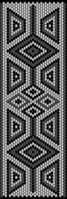 Worki mochilla i wayuu Beaded Bracelet Patterns, Bead Loom Patterns, Peyote Patterns, Beading Patterns, Embroidery Patterns, Cross Stitch Patterns, Loom Bands, Mochila Crochet, Tapestry Crochet Patterns