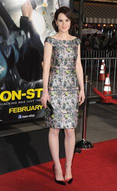 Pin for Later: How Michelle Dockery Left Lady Mary Behind to Become a Fashion Muse  A Dior shift dress was perfection at the Non-Stop premiere in February 2014.
