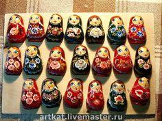 """Магнит """"Матрёшка"""" - магнит на холодильник,роспись,матрёшка,русский сувенир"""