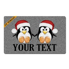 Pirate Penguin Bathroom Rug Non-Slip Floor Door Mat Flannel 16x24/""