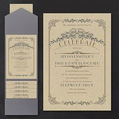 A vintage border dressed with flourishes, dots and lines frames your wording on…