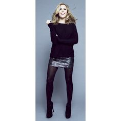 Black Sequin Skirt - Caggie's Wardrobe   ISWAI- my Christmas outfit I think!