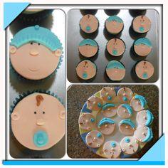 Christening cupcakes Christening Cupcakes, Cupcake Cakes, Sugar, Cookies, Desserts, Ideas, Food, Crack Crackers, Tailgate Desserts