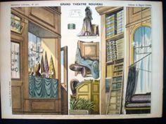 Pellerin Imagerie D'Epinal-Grand Theatre Nouveau No 1671 Fabric Store Inv1781