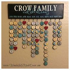 Family Celebration board . Family Birthday by WonderfullyMadeDecor