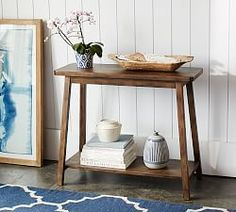Kitchen Living Room Pottery Barn Mateo Console - Classic style in a size that works for you. The Mateo Console has a weathered, distressed finish with rough-sawn detailing and a depth of color that will bring warmth and character to your space. Entryway Furniture, Living Room Furniture, Living Room Decor, Living Rooms, Space Furniture, Furniture Sale, Apartment Living, Office Furniture, Clearance Furniture