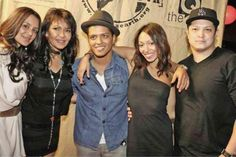 Bruno Mars and family