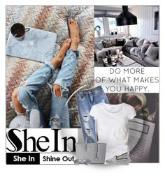 """SheIn.com contest - Win these blue denim pants!"" by cindycook10 ❤ liked on Polyvore featuring Acne Studios, AllSaints, Michael Kors, TOMS and Ray-Ban"