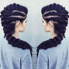 Amazing dragon girl hair!