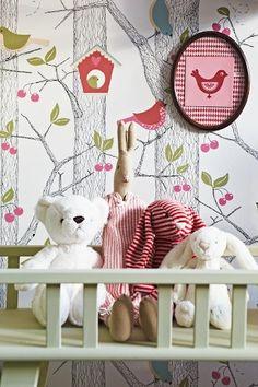 Papeles pintados para los dormitorios infantiles de Borås Tapeter.