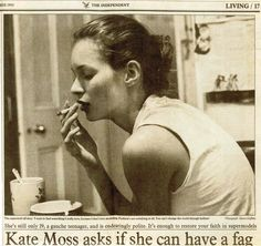 kate moss asks if she can have a fag Kate Moss, Queen Kate, Photo Dump, 90s Fashion, Runway Fashion, Pretty People, Supermodels, Cool Girl, Distance