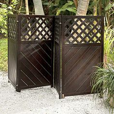 4 Panel Wood Privacy Screen