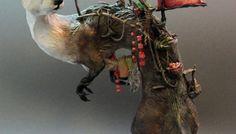 Intricate Fantasy Animal Sculptures by Ellen Jewett