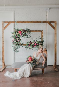 Vibrant Floral + Industrial Styled Shoot | Allure Bridals  #styledshoot #peonies #bridal #AllureBridals #weddinginspiration