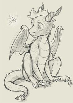 Had the biggest crush on this cute little dragon when I was younger :D. Spyro drawing ...