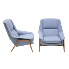 Lovely Pair of Lounge Chairs by Folke Ohlsson for Dux, 1960s