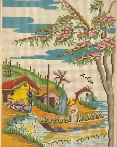 This Pin was discovered by Hat Cross Stitch House, Cross Stitch Bird, Cross Stitch Flowers, Modern Cross Stitch, Cross Stitching, Cross Stitch Embroidery, Funny Cross Stitch Patterns, Vintage Cross Stitches, Cross Stitch Charts