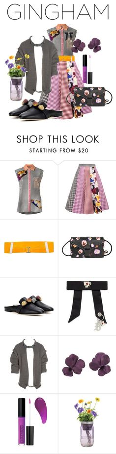 """#gingham"" by glamourgrammy ❤ liked on Polyvore featuring Christopher Kane, MM6 Maison Margiela, Mia Bellezza and Modern Sprout"