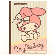 My Melody rabbit stripes dots notebook exercise book