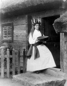 Lucia from 'Skansen', near Stockholm, 1899