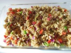 Rice Salad {Traditional African Recipe} - Hills of Africa Travel - African Food New Recipes, Dinner Recipes, Favorite Recipes, Group Recipes, Zimbabwe Food, Zimbabwe Recipes, South African Recipes, Ethnic Recipes, Around The World Food