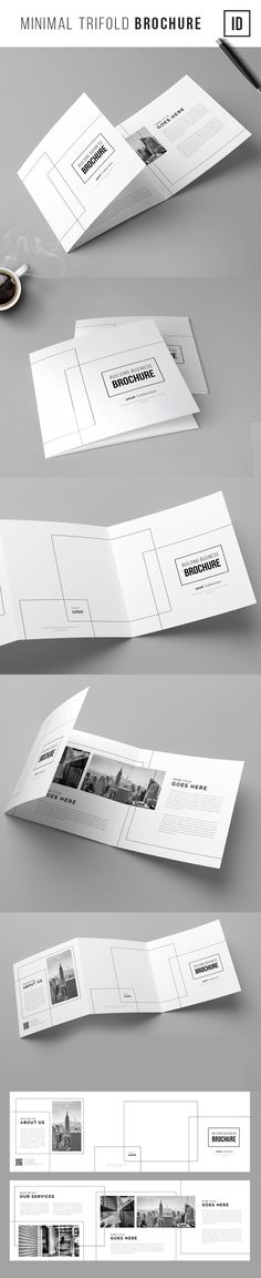 Minimal Trifold Brochure on Behance