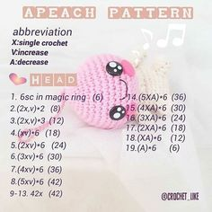 Free pattern.apeach pattern.Gift for new year 2018. #pattern #apeach代購 #crochet#amigurumi#handmade#crochetpattern