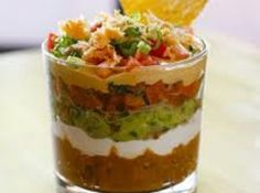 Individual 7 Layer Dip..I think SEC football game day snack....