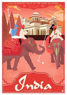 India Travel Poster on Behance by Joseph Marsh