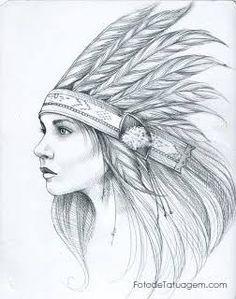 Resultado de imagem para desenho indía pra tatuar