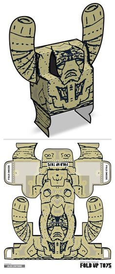 Downloadable paper art toy design by Fold Up Toys - Rorschach #007