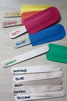 Matching colors with popsicle game
