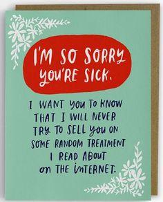 EF | Get Well Soon? Was man zu jemandem sagt, der eine Krankheit hat