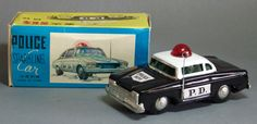 Vintage China Friction Police Car