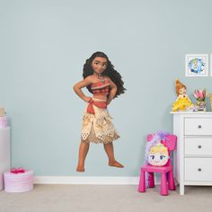 6105de750c4 Moana - Life-Size Officially Licensed Disney Removable Wall Decal Fathead  Disney Princess Room