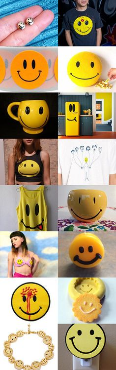:) 90s Smiley :) by HandcraftLab on Etsy--Pinned with TreasuryPin.com