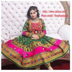 Beautiful Afghan Dress  http://www.zarinas.com/